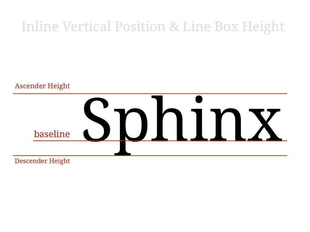 Sphinx baseline Ascender Height Descender Heigh...