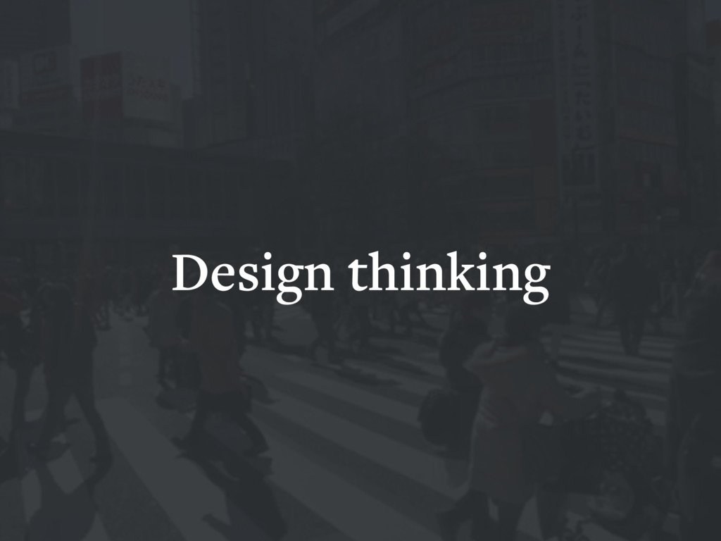 Design thinking HCD UXD IXD