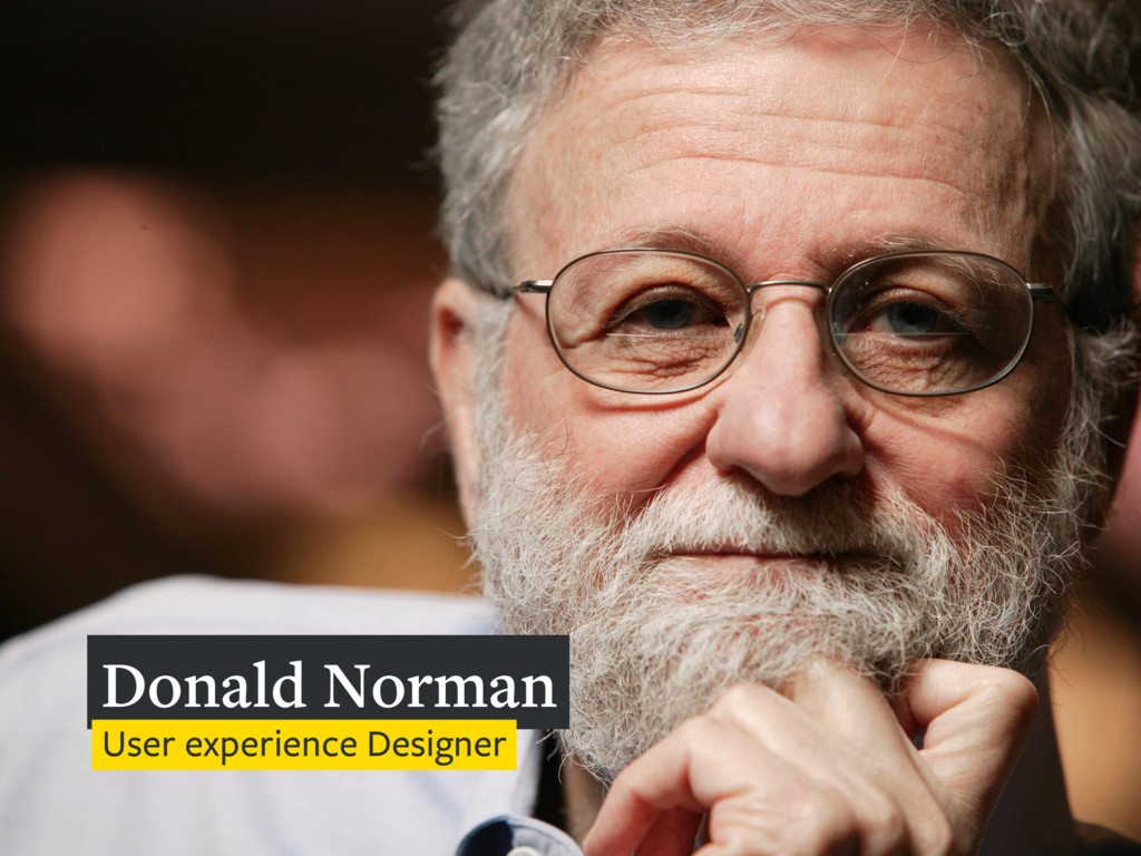 Donald Norman User experience Designer