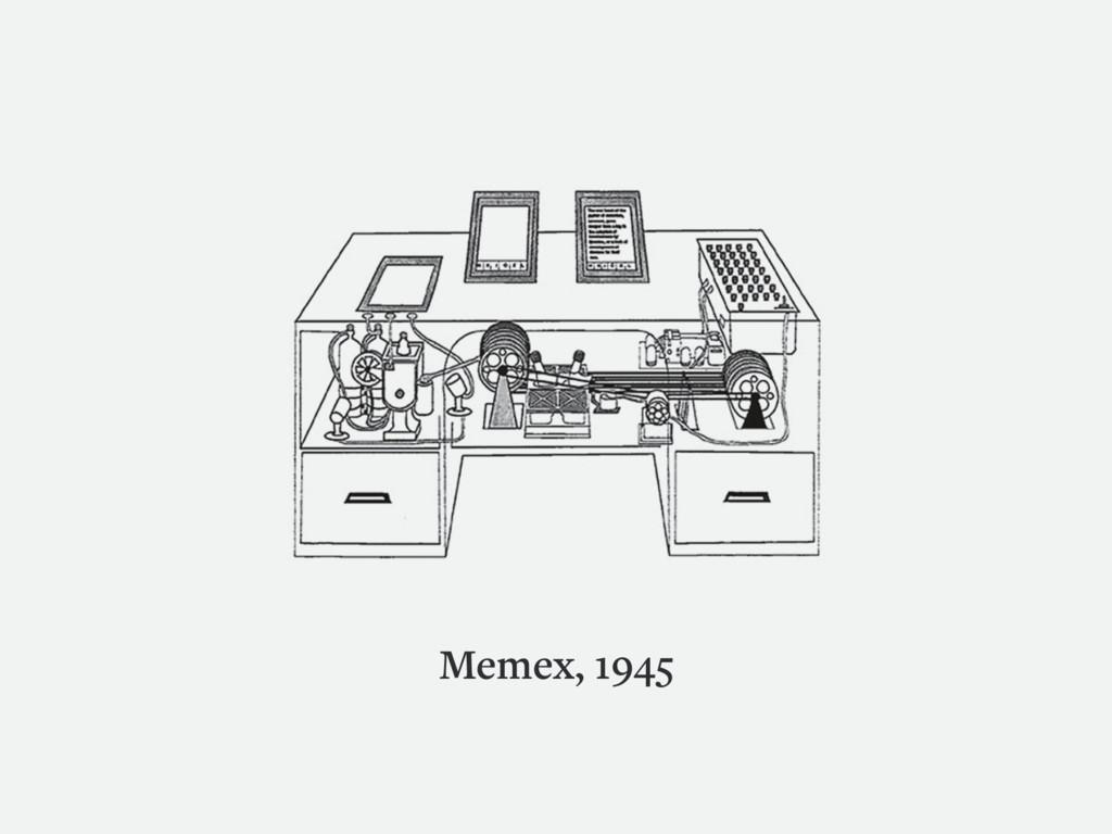 Memex, 1945