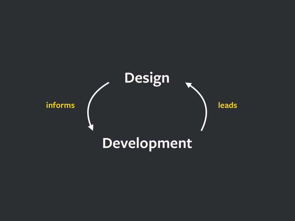Design Development leads informs
