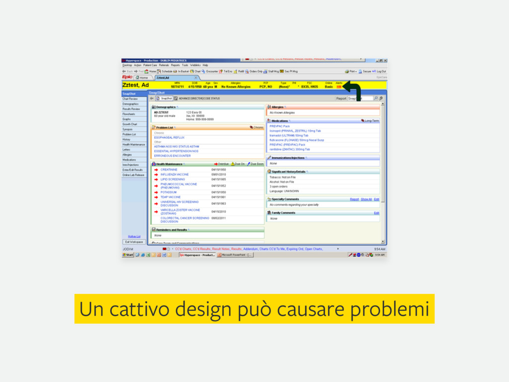 Un cattivo design può causare problemi