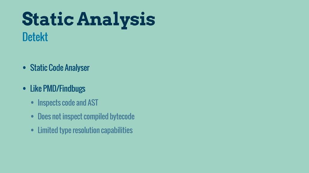 Static Analysis • Static Code Analyser • Like P...