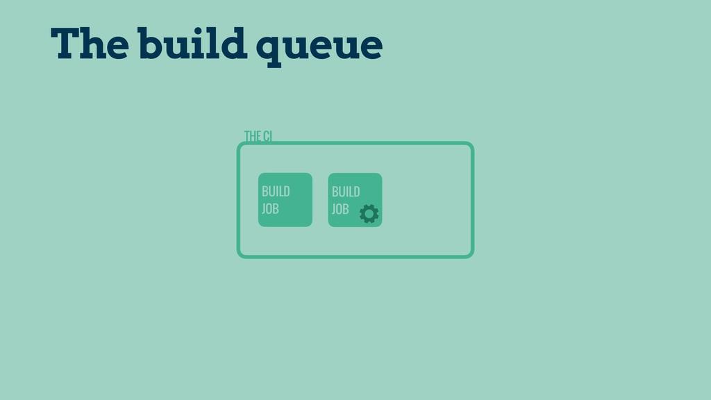 THE CI BUILD JOB BUILD JOB The build queue