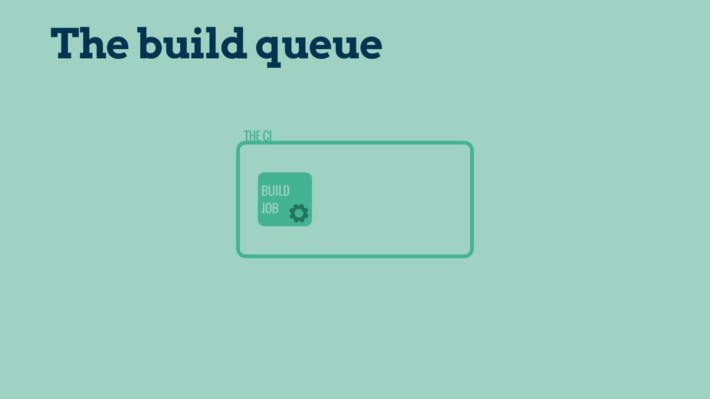 THE CI BUILD JOB The build queue
