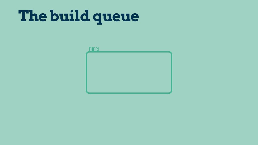THE CI The build queue