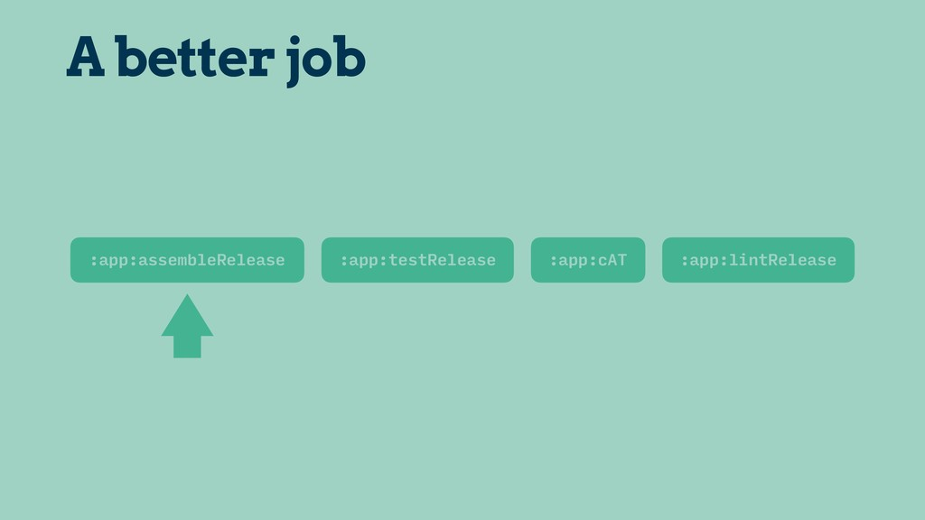 :app:assembleRelease A better job :app:testRele...