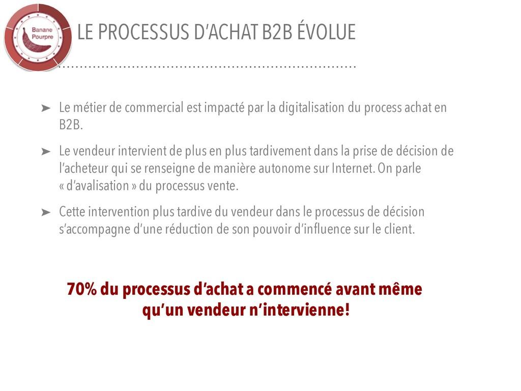 LE PROCESSUS D'ACHAT B2B ÉVOLUE ➤ Le métier de ...
