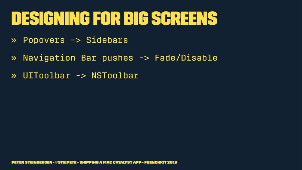 Designing for Big Screens » Popovers -> Sidebar...