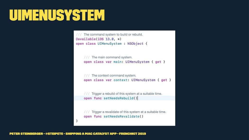 UIMenuSystem Peter Steinberger - @steipete - Sh...