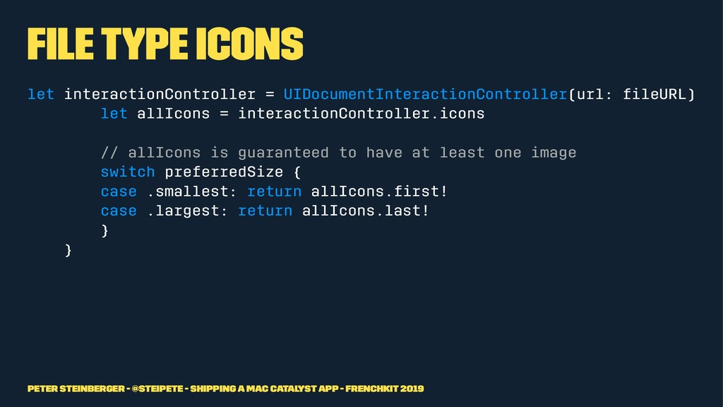 File Type Icons let interactionController = UID...