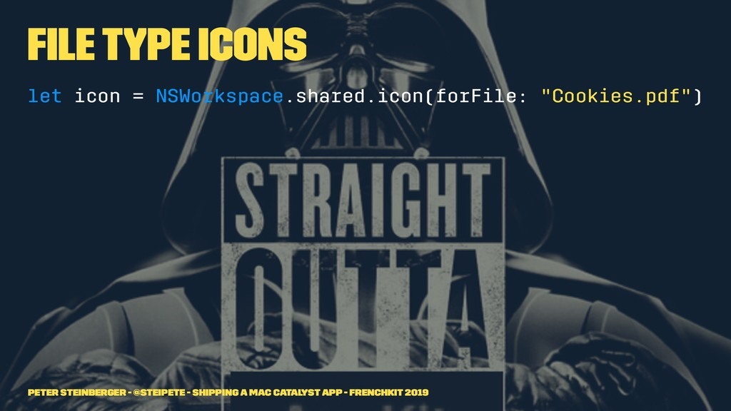 File Type Icons let icon = NSWorkspace.shared.i...