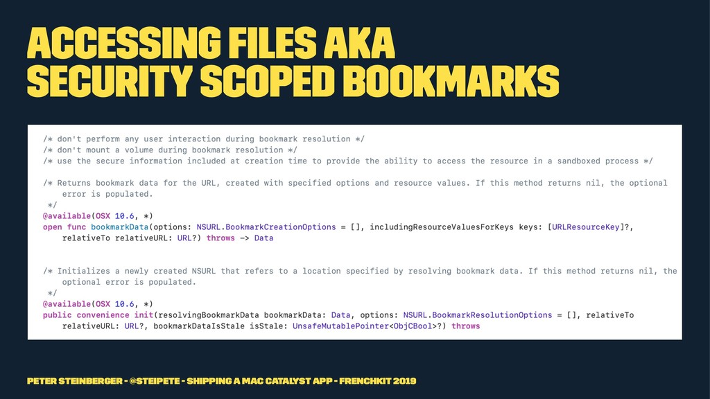 Accessing Files aka Security Scoped Bookmarks P...