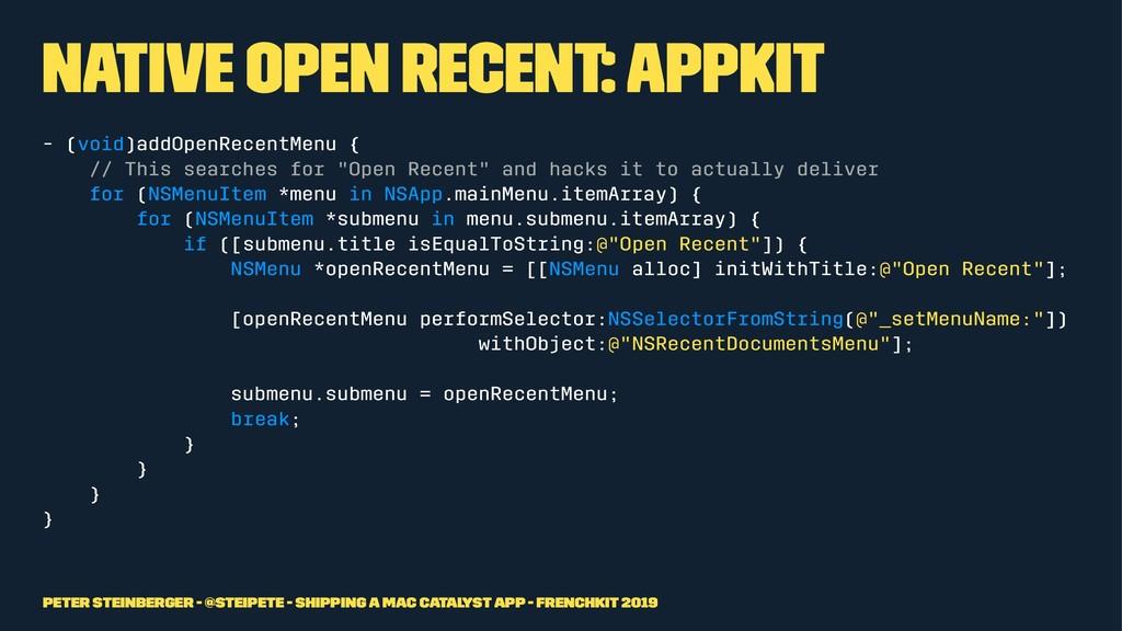 Native Open Recent: AppKit - (void)addOpenRecen...
