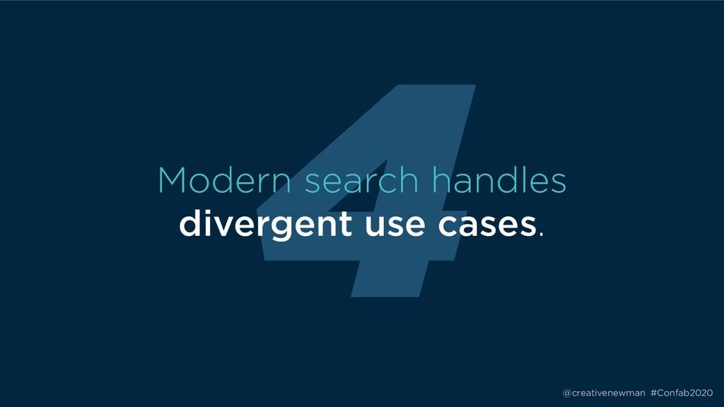 @creativenewman #Confab2020 4 Modern search han...