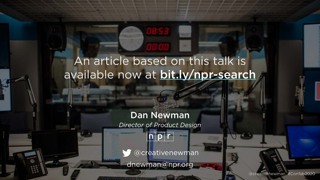 @creativenewman #Confab2020 An article based on...