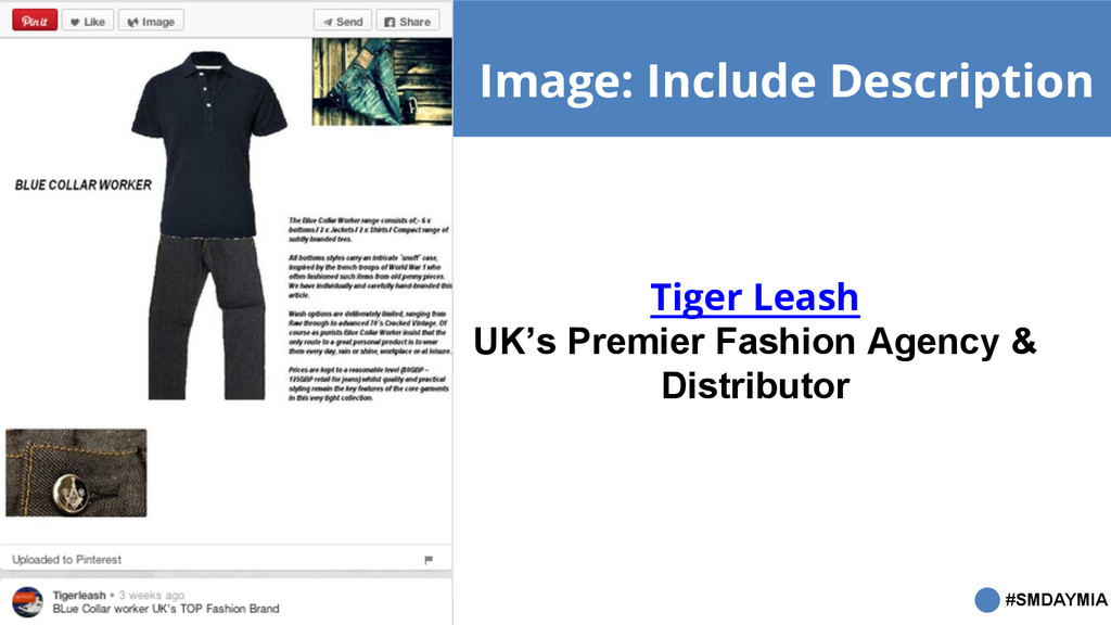 #SMDAYMIA Image: Include Description Tiger Leas...