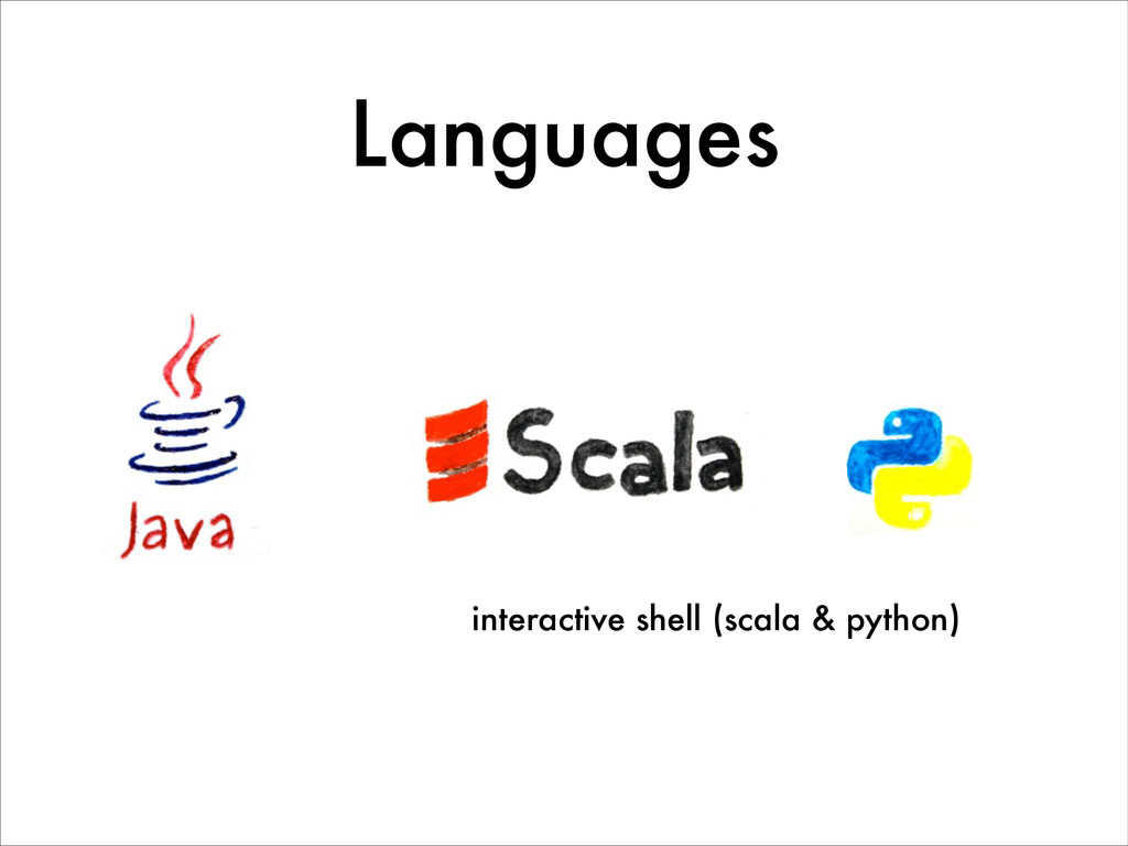 Languages interactive shell (scala & python)