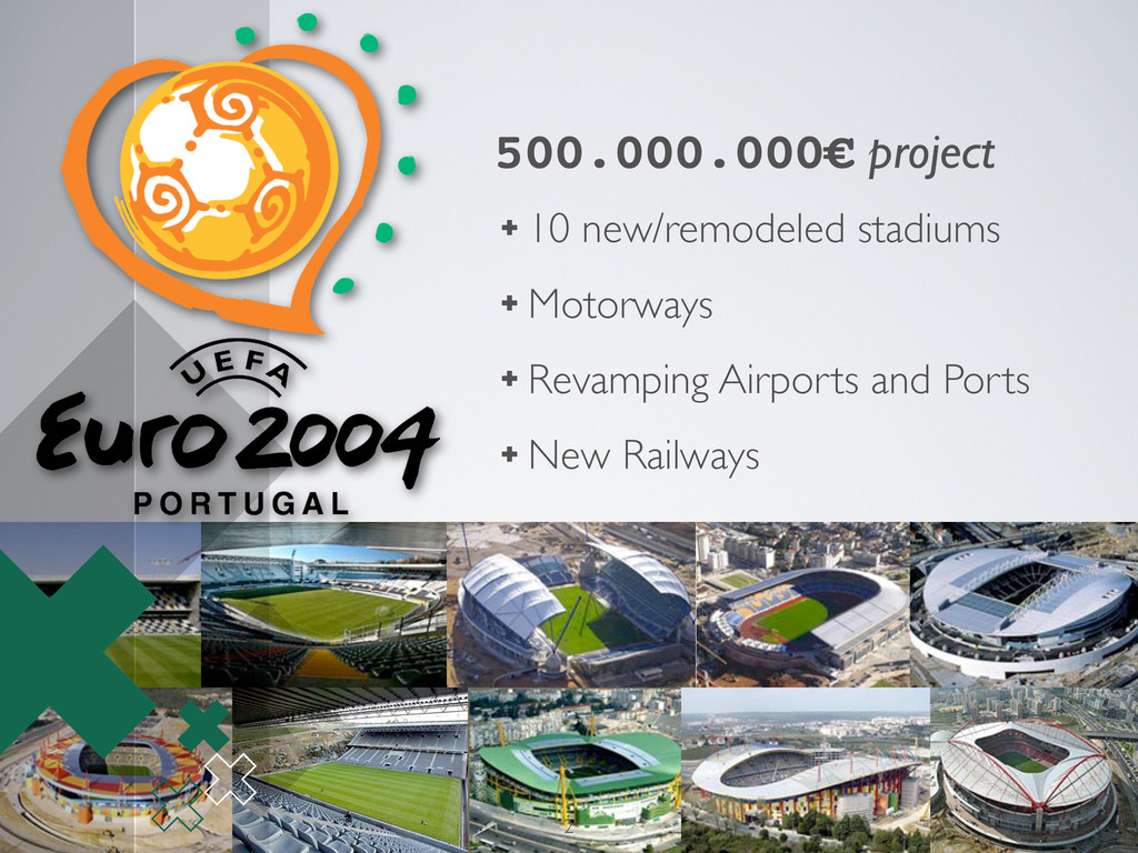 500.000.000€ project ✚ 10 new/remodeled stadium...
