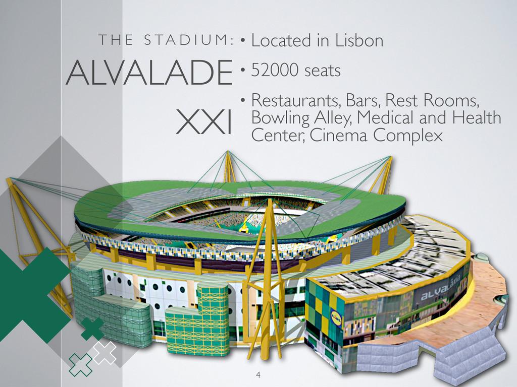 T H E S TA D I U M : ALVALADE XXI • Located in ...