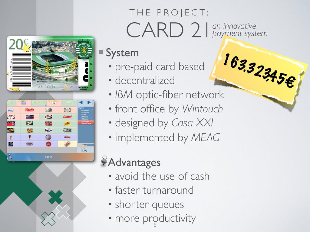 T H E P R O J E C T : CARD 21an innovative paym...