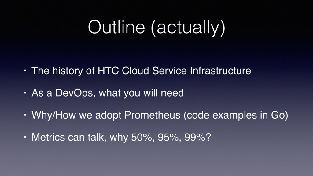 Outline (actually) • The history of HTC Cloud S...