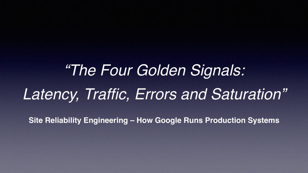 Site Reliability Engineering – How Google Runs ...