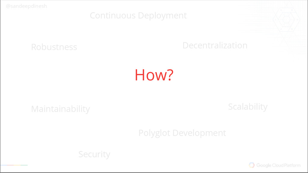 @sandeepdinesh Why Microservices? Scalability S...