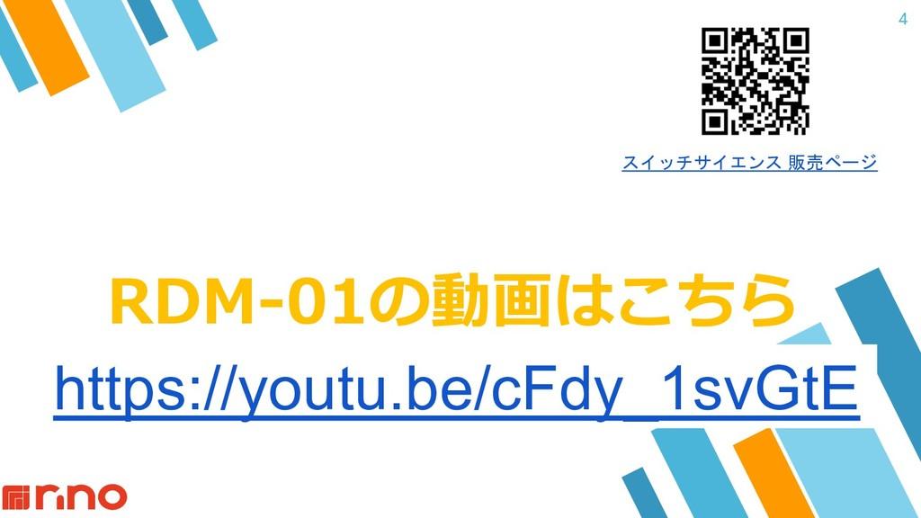 RDM-01の動画はこちら 4 https://youtu.be/cFdy_1svGtE スイ...