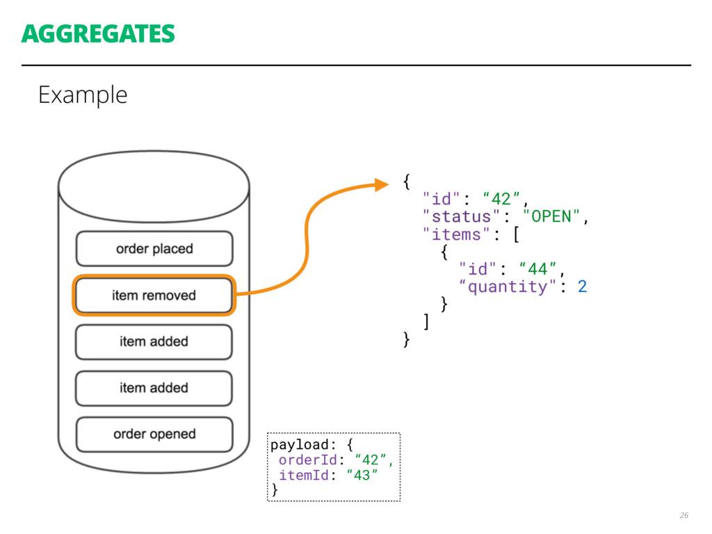 "AGGREGATES Example 26 { ""id"": ""42"", ""status"": ""..."