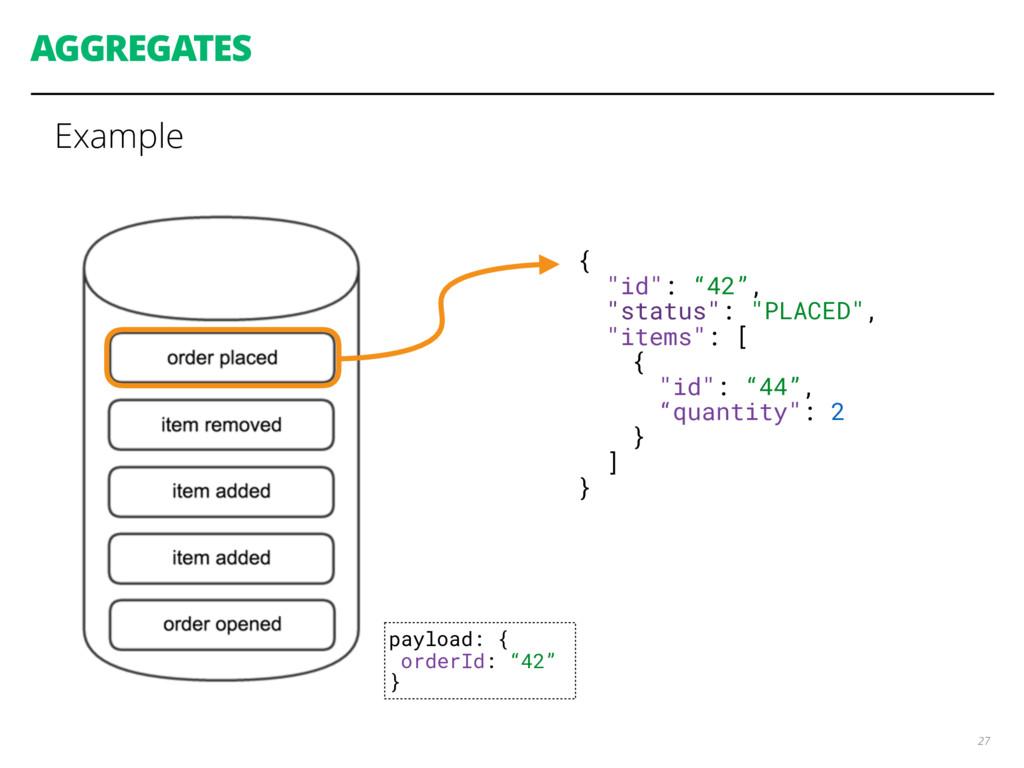 "AGGREGATES Example 27 { ""id"": ""42"", ""status"": ""..."
