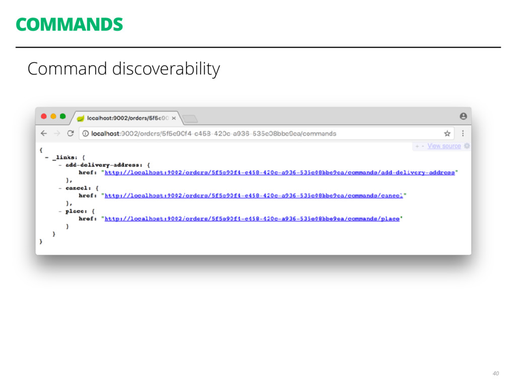 COMMANDS Command discoverability 40
