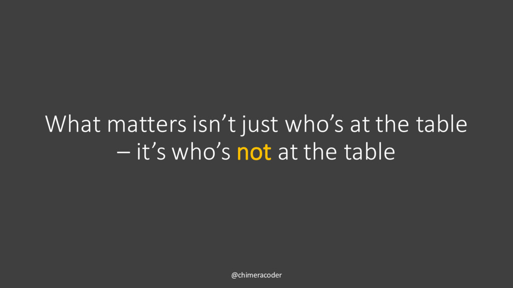 What matters isn't just who's at the table – it...
