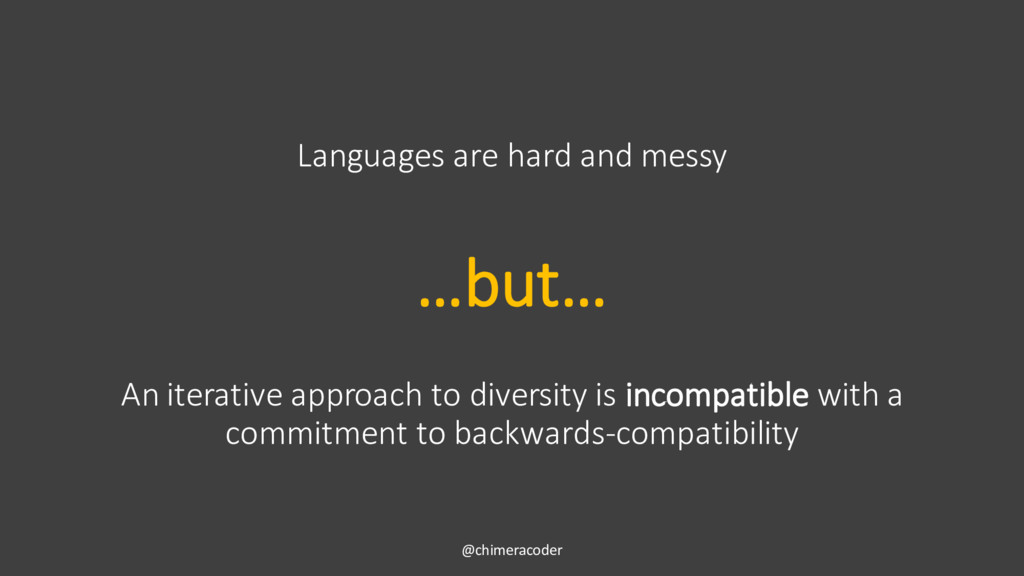 An iterative approach to diversity is incompati...