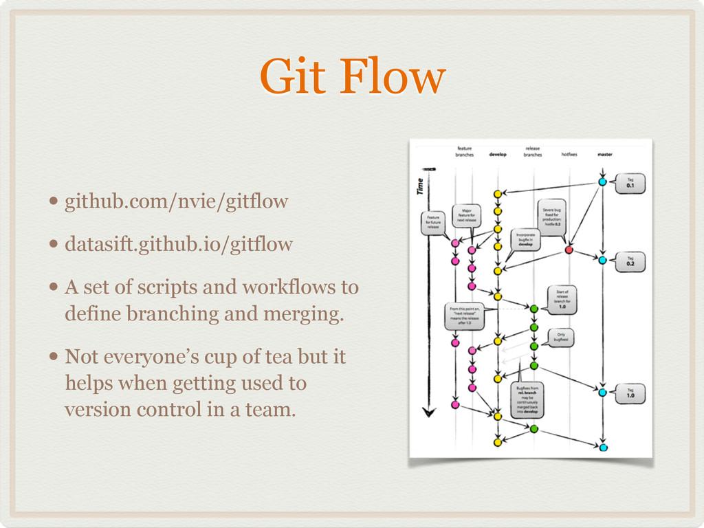Git Flow • github.com/nvie/gitflow • datasift.g...