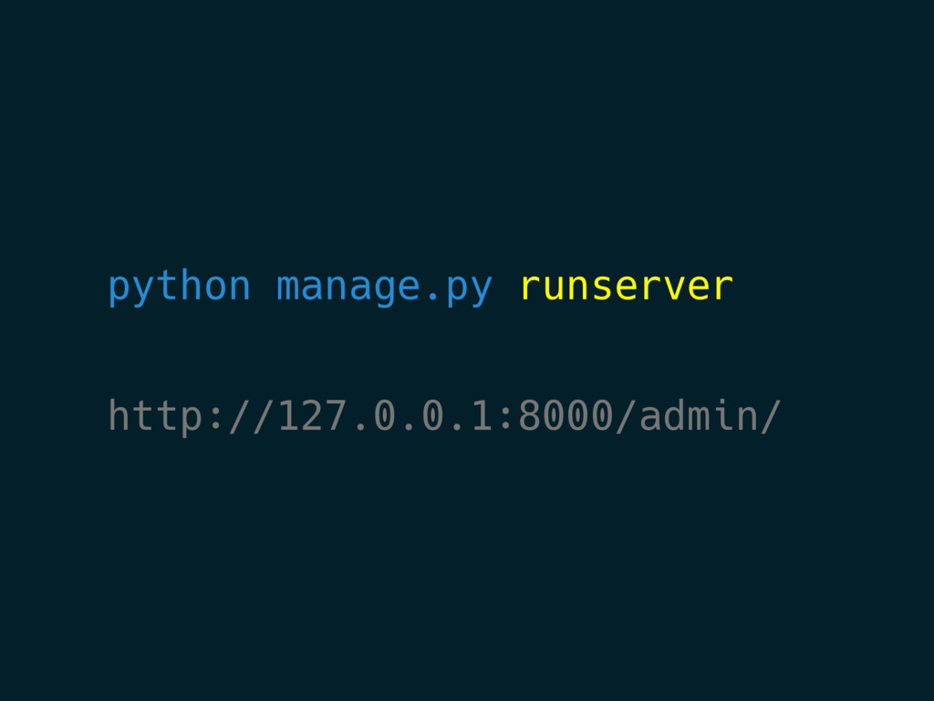 python manage.py runserver http://127.0.0.1:800...