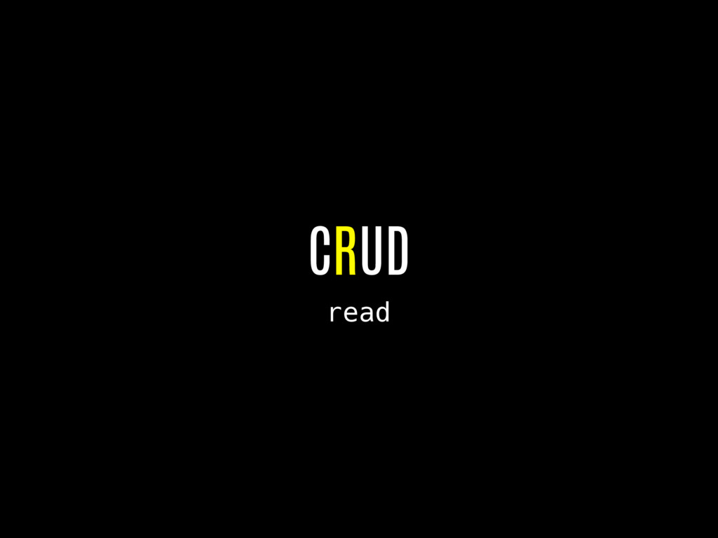 CRUD read
