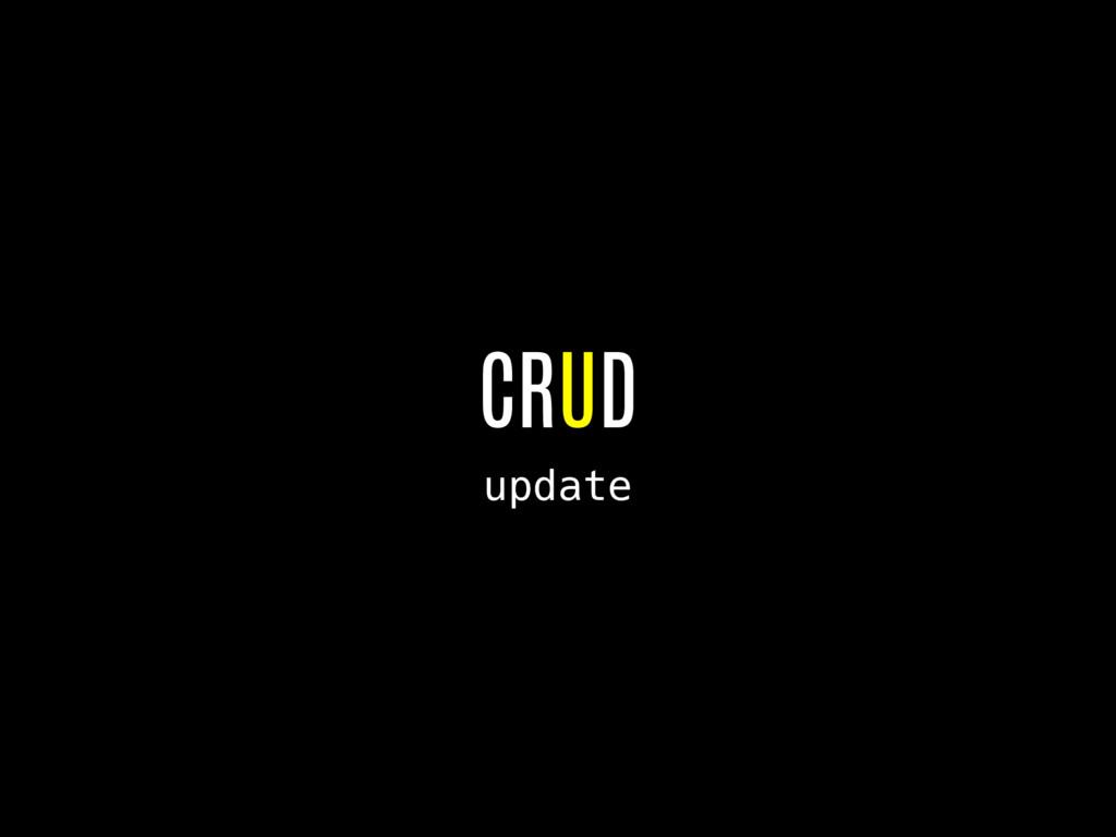 CRUD update