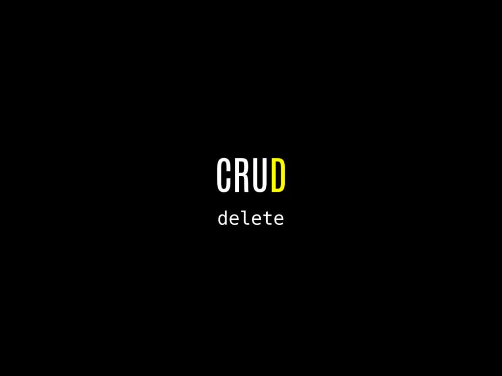 CRUD delete