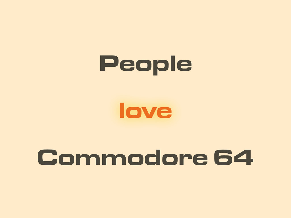 People Commodore 64 love