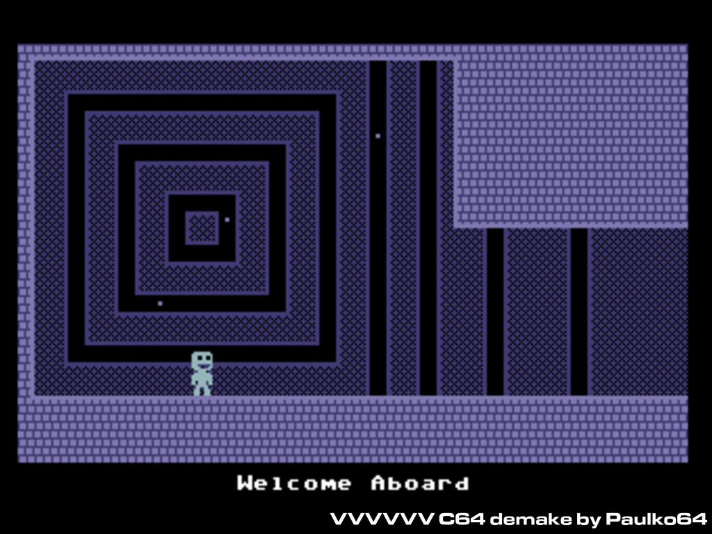 VVVVVV C64 demake by Paulko64