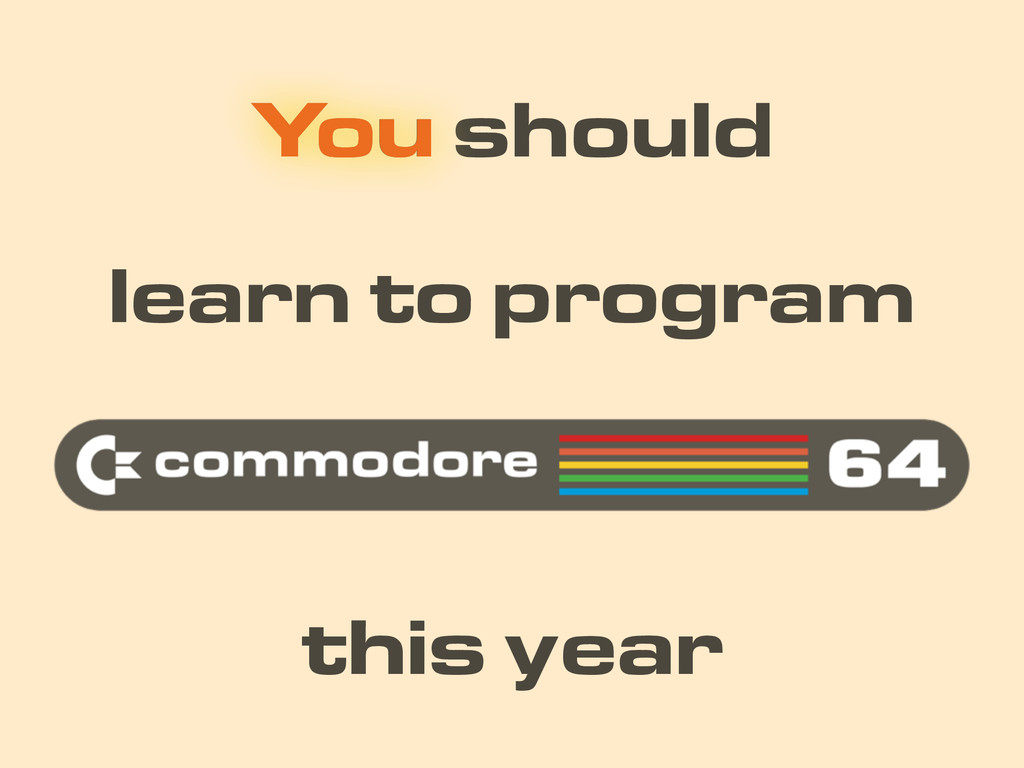 You should learn to program this year You