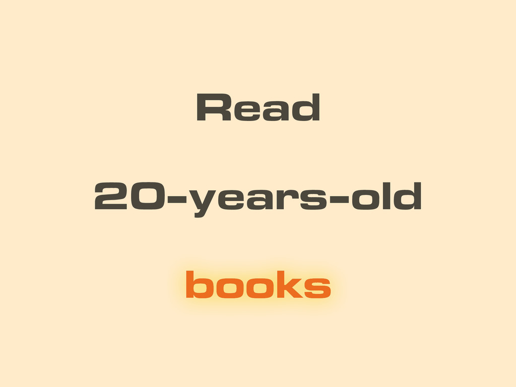 20-years-old Read books books