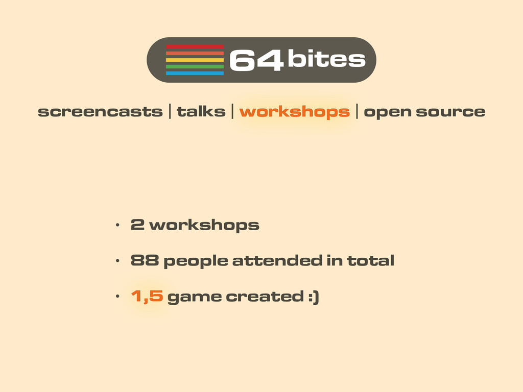 64bites screencasts | talks | workshops | open ...