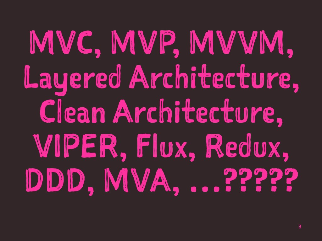MVC, MVP, MVVM, Layered Architecture, Clean Arc...