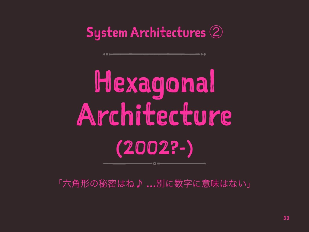 System Architectures ᶄ Hexagonal Architecture (...