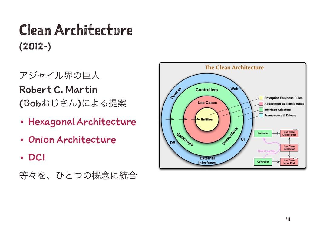 Clean Architecture (2012-) ΞδϟΠϧքͷڊਓ Robert C. ...