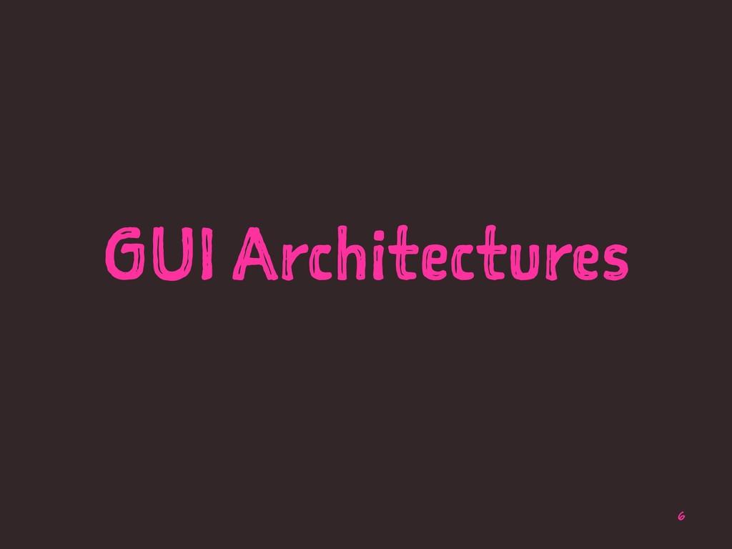 GUI Architectures 6