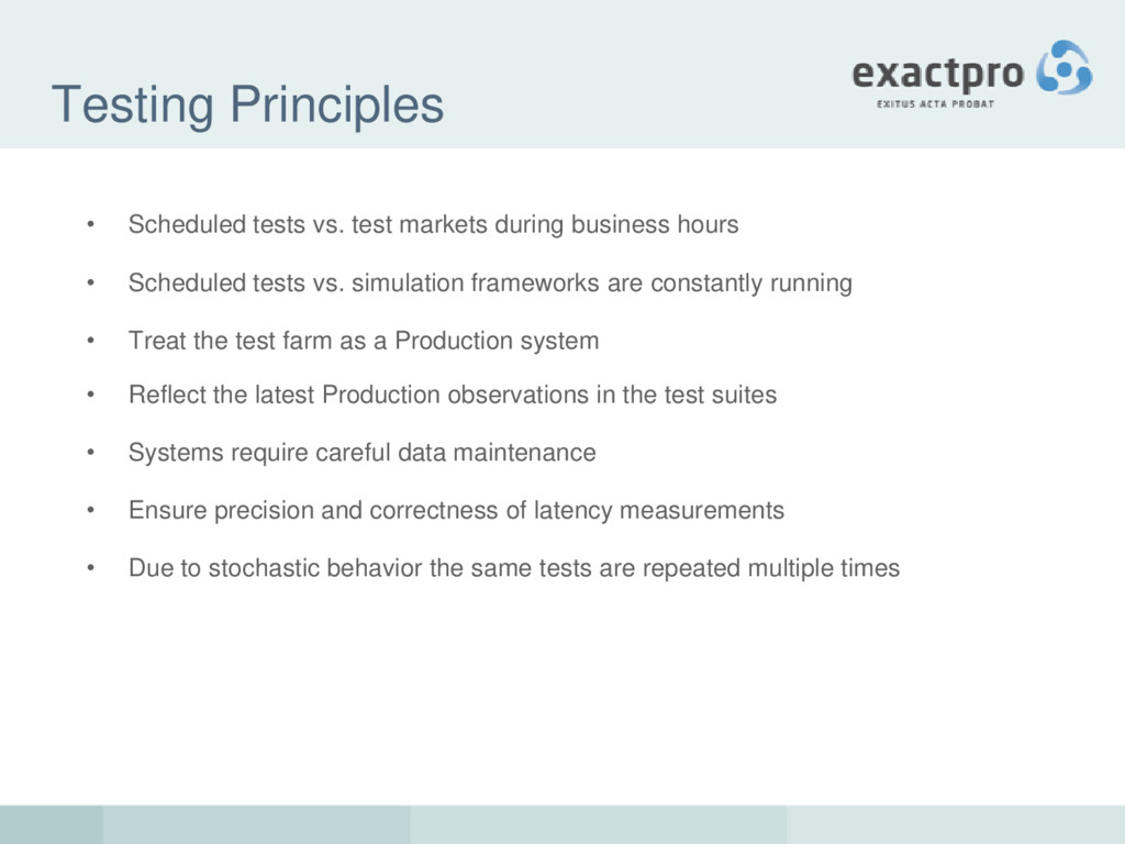 Testing Principles • Scheduled tests vs. test m...