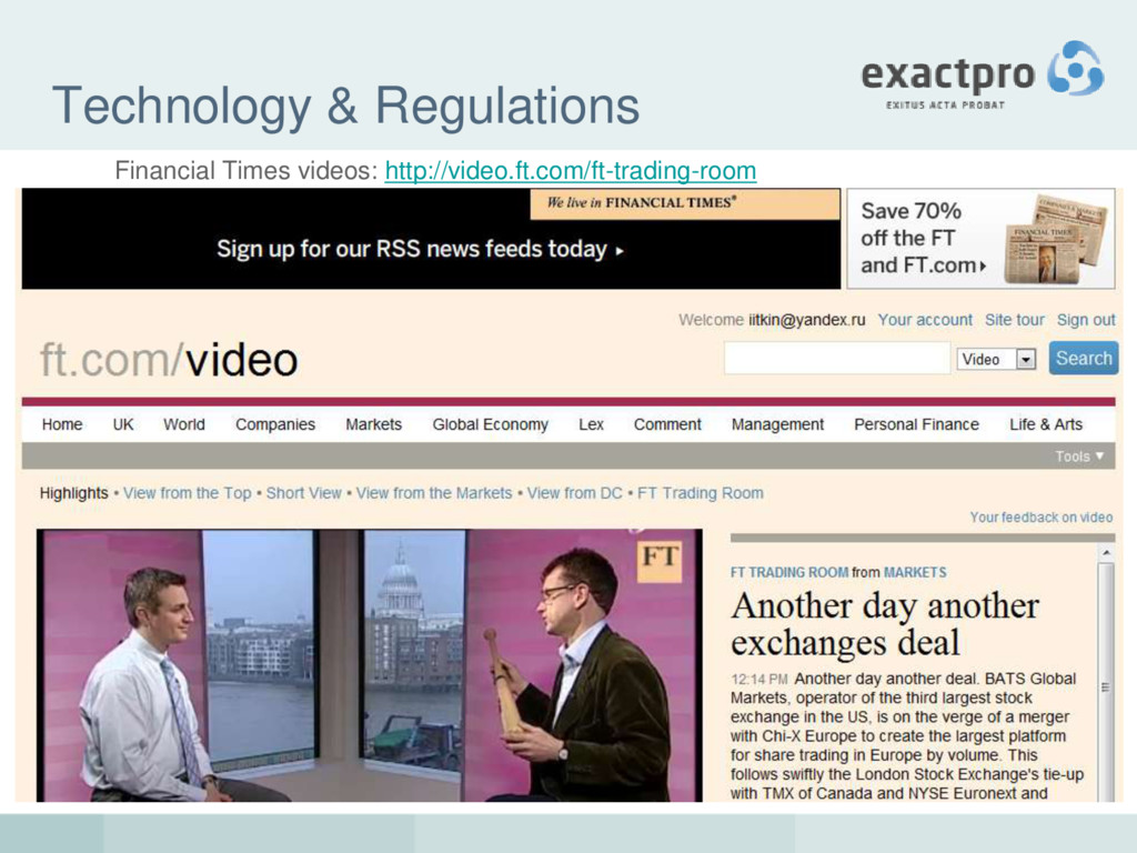 Technology & Regulations Financial Times videos...